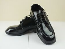 GATEWAY FORMAL FOOTWEAR MENS SHINY BLACK PATENT LEATHER OXFORD DRESS SHOES SZ 9