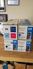 HP 4500 4550 Toner Set C4191A C4192A C4193A C4194A NEW