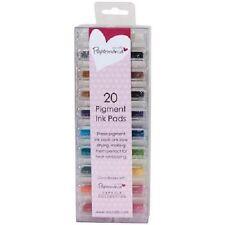 Papermania Mini Pigment Ink Pads 20/Pkg-Assorted Colors PMA 5521100