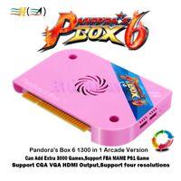 Pandora's Box 6 1300 in 1 Jamma Arcade PCB Board CGA VGA HDMI FBA MAME 3D Game