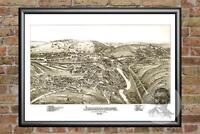 Old Map of Johnsonburg, PA from 1895 - Vintage Pennsylvania Art, Historic Decor