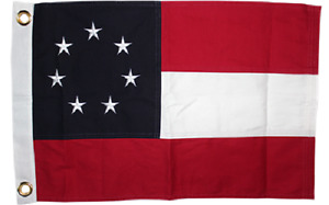 3X2 Embroidered 100% Cotton First National Stars Bars 7 Flag 2x3 Grommets