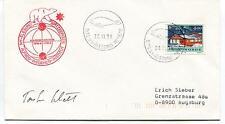 1991 NY Alesund Spitzbergen Institut Koldewey Polar Antarctic Cover SIGNED