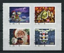 Switzerland 2017 CTO Christmas Father Christmas Snowman 4v S/A Set Stamps