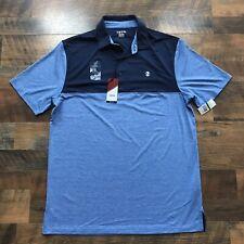 New - IZOD Mens LT Large Short Sleeve Stretch Polo Shirt Moisture Wicking NWT
