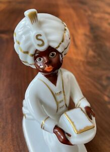 Sarotti Mohr - Rosenthal Porzellan / kein Emailschild - Werbefigur Schokolade
