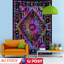 Stylish Psychedelic Sun Moon Planet Wall Hanging Tapestry Bedroom Dorm Decor