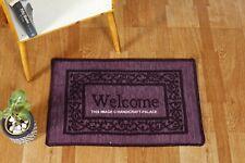 WELCOME Home Kitchen Floor Mat Non-Slip Washable Rug Door Hallway Balcony Carpet