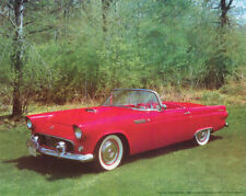 POSTER:CARS :1955 FORD THUNDERBIRD CONVERTIBLE - RED - FREE SHIP #17-765  RP92 P