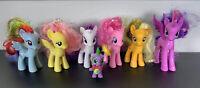 "My Little Pony G4 3"" Brushables lot MANE 6 & Spike - MLP FIM Princess Twilight"