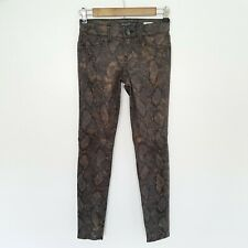 Anthropologie Levell 99 Janice Ultra Skinny Stretch Jeans Animal Print Womens 24