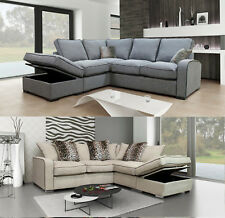 Lakers Sofa Corner Sofa With Storage Scatter & Formal Grey Beige Cream Fabric