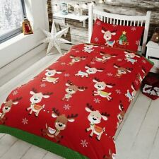 Rudolph y Amigos Individual Navidad Juego Funda Edredón Renos Niños
