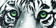Airbrushed whiteTiger in snow original art license plate
