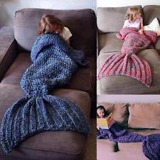Sirène queue couverture tapis tricot doux chaud sac couchage pour adulte enfant