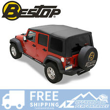 Bestop Replacement Window 07-09 Jeep Wrangler Unlimited Replace-A-Top Black Twil