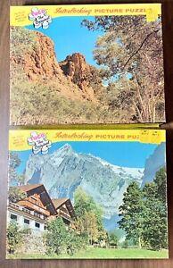 Lot 2 Vintage Tuco Picture Puzzle's Interlocking Pieces Switzerland & Australia