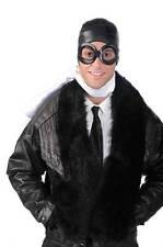 New 1940s Aviator Pilot Flying Kit - Helmet Goggles & Scarf, Fancy Dress