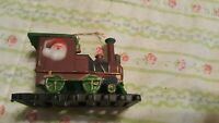 """Vintage Santa In A Caboose On Train. Plastic. 2 1/2"""" Long"""