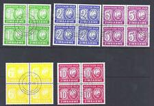 ZIMBABWE, 1980  POSTAGE DUES, SG D23-D27, FINE USED  SET IN BLOCKS 4