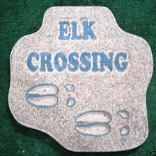 "Elk Crossing mold plaster concrete animal plaque mould  11"" x 11"" x  3/4"""