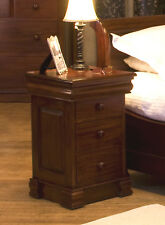 La Roque Premium Solid Mahogany Dark Wood Lamp Table with 4 Drawers