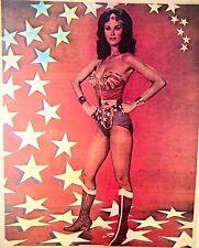 Vintage 1977 Wonder Woman Iron-On T-Shirt Transfer Lynda Carter TV Show RARE!