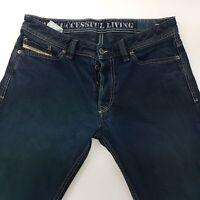 Diesel VIKER Mens Jeans W31 L34 Dark Blue Regular Fit Straight Low Rise