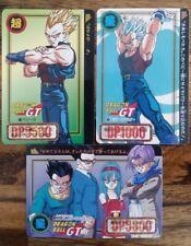 LOT DRAGON BALL GT DBZ HONDAN  CARDDASS DP CARD CARTE BANDAI JAPAN 1996