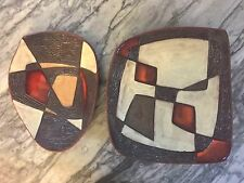 """Pair"" Guy Ouvrard Quebec Modernist Ceramic Master signed shop Studio TORNO"