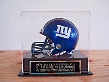 Football Mini Helmet Display Case With A Cowboys Super Bowl 6 Engraved Nameplate