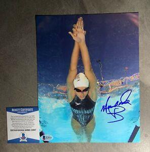 Amanda Beard Signed 8x10 Photo Beckett BAS COA Swimming Olympics Autograph Auto