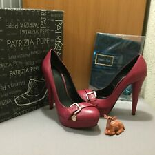 PATRIZIA PEPE WOMAN VERY HIGH HEELS PUMPS SHOES LEATHER 38 ITALY