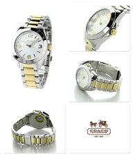 Brand New COACH Tristen Series Ladies Silver Gold  Swiss Quartz Watch 14501781