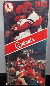 St Louis Cardinals Vintage 1983 MLB Baseball Media Guide, Program, Magazine