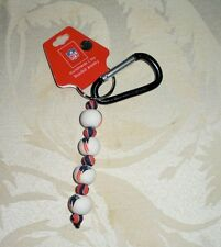 New England Patriots Carabiner Beaded Keychain