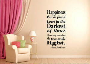 Harry Potter Inspired Happiness Can Be found  wall art Sticker Decal Home decor