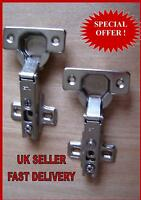 (2x) PAIR OF KITCHEN CABINET/CUPBOARD/WARDROBE HINGES
