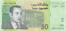 Morocco 50 Dirhams 2002 Unc Pn 69a