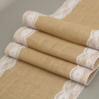 Christmas Table Runners Lace Burlap Placemat Parties Dining Decors Tables Runner