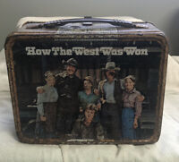 How The West Was Won Lunch Box Metal Tin James Arness Thermos Brand Vintage
