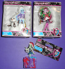 Monster High 2013 ABBEY BOMINABLE, DRACULAURA, FRANKIE STEIN Ornament LOT Set 3