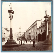 Italie, Ravenne, Place Victor Emanuel  Vintage albumen print Tirage albuminé