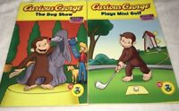 Lot of 2 Curious George Numbers Grouping Math Homeschool Green Light  Readers PB