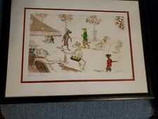 RARE Boris O'Klein signed Champs Elipeer 1930's hand colored etching EC framed