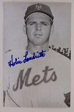 HOBIE LANDRITH New York Met Giants Cardinals Cubs Autographed 3x5 Postcard 16F
