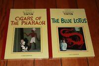 Adventures of TinTin in Orient Vol 1-2 Cigars Pharaoh Blue Lotus Herge SEALED HC