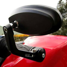 Pair Anti Glare Black Motorcycle Bar End Mirrors For Kawasaki Versys 650 1000 LT