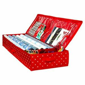 Wrapping Paper Storage Container  Fits up to 27 Rolls Gift Wrap Organizer Bags