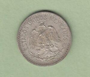 1917 Mexico 50 Centavos Silver Coin - EF